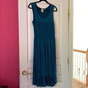Anthropologie Teal Dress